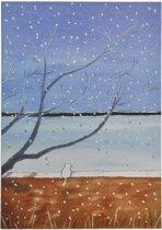 """Notitieboekje/dagboek """"Winter"""" – Blauw/Bruin"""