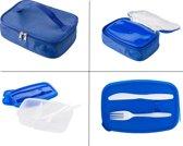 Lunch Box Koeltas - Grote Brood Doos Met Bestek Vakjes Verdeling Compartimenten