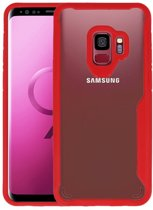 Focus Transparant Hard Cases voor Samsung Galaxy S9 Rood