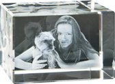 3D Foto in glas Model: Bacio Afm: 90 x 60 x 60 mm