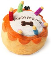 House of paws pluche birthday cake taart 19x19x14 cm
