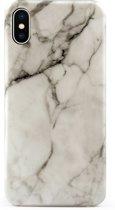 iPhone 7 / 8 wit zwart marmer hoesje