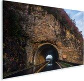 De tunnel door een berg bij de Amerikaanse Blue Ridge Parkway in North Carolina Plexiglas 60x40 cm - Foto print op Glas (Plexiglas wanddecoratie)