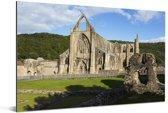 De Tintern Abbey in Wales Aluminium 180x120 cm - Foto print op Aluminium (metaal wanddecoratie) XXL / Groot formaat!