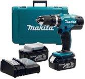 Makita Klopboormachine inclusief 2x 3.0ah accu in koffer DHP453RFE