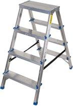 Aluminium dubbelzijdige trapladder, 4 treden