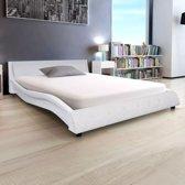 vidaXL Bed met traagschuimmatras kunstleer 140x200 cm wit