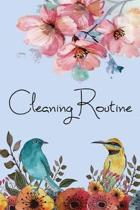 Cleaning Routine: Cleaning Checklist for Keep The House Tidy and Clean- Housekeeping, Weekly Cleaning, Size 6x9-Paperback