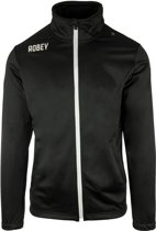 Robey Premier Trainingsjack - Voetbaljas - Black - Maat XL