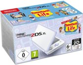 New Nintendo 2DS XL, Console + Tomodachi Life (White / Lavender)
