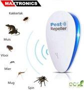 Ongediertebestrijding elektrisch | Ultrasoon | Bestrijd en Verjaagt Muizen - Ratten - Spinnen - Mieren - Kakkerlakken - Muggen - Ongewenst Ongedierte | Pest Repeller | Ultrasonic | Insectenverdelger | Insecten bestrijding