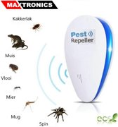 Ongediertebestrijding elektrisch - Ultrasone verjager - Ultrasoon - Bestrijd en Verjaagt Muizen - Ratten - Spinnen - Mieren - Kakkerlakken - Muggen - Ongewenst Ongedierte - Pest Repeller - Ultrasonic - Insectenverdelger - Insecten bestrijding