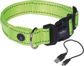 Nobby halsband flash mesh neon geel45-53cm