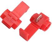 Draad Connectors Aftakklem Rood - 0.5-1.0 mm2 - 100 stuks