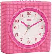 Balance Kwartswekker Analoog Roze/Wit - Roze Wekker voor Kinderen