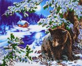 Diamond Dotz ® painting Rambling Bear (52x42 cm)