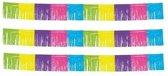 3x Gekleurde franje slingers - 10 meter - feestslinger