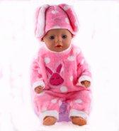 B-Merk Baby born kleertjes, pyjama roze