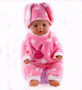 Poppenkleertjes, pyjama roze