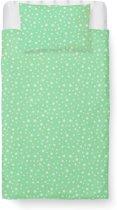 Roomture - Dekbedovertrek Peuter - Katoen - 120 x 150 cm - Little star Green