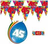 2x 45 jaar vlaggenlijn + ballonnen