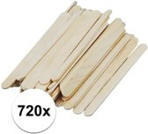 720 naturel ijsstokjes knutselhoutjes 11 x 1,1 cm - houten knutselstokjes