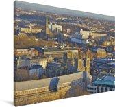 Luchtfoto van Bristol in Europa Canvas 90x60 cm - Foto print op Canvas schilderij (Wanddecoratie woonkamer / slaapkamer)