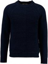 Garcia donkerblauwe trui katoen Maat - L