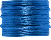 Satijnkoord (2 mm) Clear Blue (15 Meter)