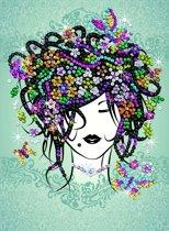 Sequin Art Tiener Kunstwerk set Bloemen Meisje