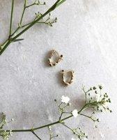 Goudkleurige oorbellen Creolen ALYSS 12 mm