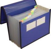 """EXXO-HFP #41627 - A4 """"GROEI"""" Vakkenmap - 12 Tabs & 13 Vakken - Blauw - 1 stuks"""