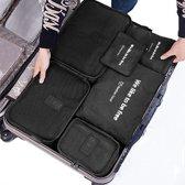 Beefree Koffer organiser 6-delig Zwart, formaat handbagage  | Travel bag | Reis organizer | Opgeruimde koffer | Kledinghoes | Reistas