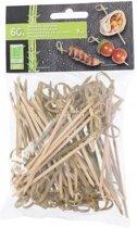 Lifetime Bamboespies met knoop 9 cm - 60 stuks
