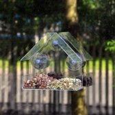 Green Bird Care Raamvoederhuis Met 3 Zuignappen - 15x6,5x15 cm - Plexiglas