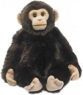 Apen knuffel - WNF pluche Chimpansee apen knuffel van 39 cm