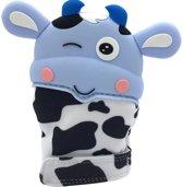 Markuscha Toys  - Koetje blauw - Bijt - speelgoed - handschoen - bijtring - speelgoed - kraamcadeau