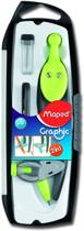 Graphic passer 360° uitwisselbare vulling + adapter set - groen