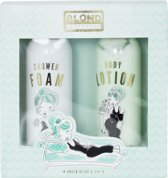Blond Amsterdam Giftset shower foam & body lotion green olive & fig