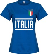 Italië Dames Team T-Shirt - Blauw - S