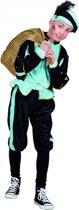 Lichtblauw Pieten kostuum voor kinderen 4-6 jaar - Pietenpak kind
