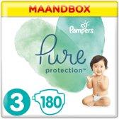 Pampers Pure Protection Luiers - Maat 3 (Midi) 6-10kg - 180 stuks - Voordeelpak