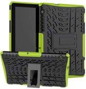 Huawei Mediapad T5 10 - Schokbestendige Back Cover - Groen