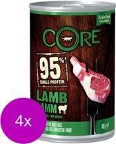 Wellness Core Grain Free 95 400 g - Hondenvoer - 4 x Lam&Pompoen