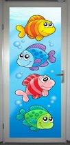 Deurposter 'Vissen 1' - deursticker 75x195 cm