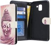 Samsung Galaxy J6 2018 hoesje - CaseBoutique - Boeddha print - Kunstleer