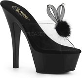 FLAMINGO-874 (EU 38 = US 8) 8 Heel, 4 PF Glitter Ankle Strap Sandal