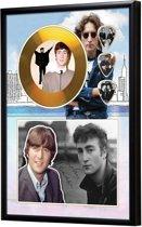 Golddiscdisplay met plectrums John Lennon The Beatles ingelijst