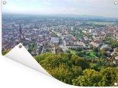 Mooie groene omgeving rondom Freiburg Tuinposter 80x60 cm - Tuindoek / Buitencanvas / Schilderijen voor buiten (tuin decoratie)