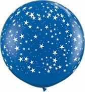 Mega ballon sterren blauw 90 cm